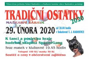 Tradiční ostatky v Radosticích, sobota 29. 2. 2020