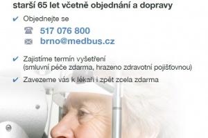 Medbus - zajišťuje oční péči pro seniory starší 65 let